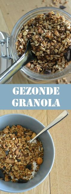 voor in de yoghurt of zo Healthy Recepies, Healthy Menu, Healthy Smoothies, Healthy Snacks, I Want Food, Love Food, Sports Food, Go For It, Clean Recipes