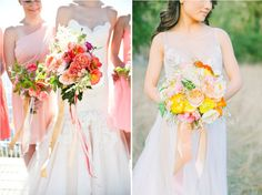 Bouquet mariée : des rubans pour décorer