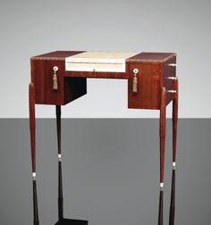 Émile-Jacques Ruhlmann (French amaranth, shagreen and ivory lady's desk c. Unique Furniture, Table Furniture, Furniture Design, 1920s Furniture, Muebles Art Deco, Art Et Architecture, French Art Deco, Art Deco Desk, Art Nouveau Furniture