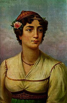 Manto Mavrogenous, Greek heroine of the Greek War of Independence. Lithography by Adam Friedel, 1827 Greek Independence, Greek Warrior, Greek History, Greek Art, In Ancient Times, Military History, Artist, Beautiful, Greece