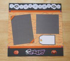 Halloween Scrapbook Layout  Happy Halloween  by AngelBDesigns4You
