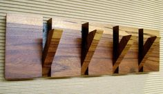 Wall coat hanger, 4 hooks coat hanger, wood wall art, wooden coat rack, modern…