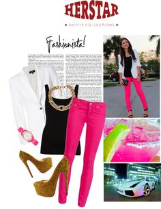 """""""Bring the fashionista out of you with HERSTAR Gold KULR Pumps!"""" by missmelika on Polyvore"""