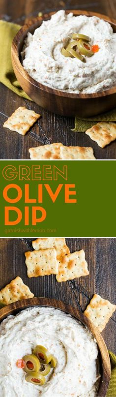 This tangy Green Olive Dip will be the hit of your next party. It comes together in minutes and always disappears.