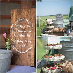 Outdoor Barn Wedding Refreshments