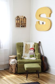 Comfy little reading corner, Katie Shelton