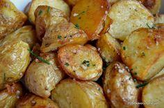 Cartofi fripti la cuptor Shrimp, Appetizers, Potatoes, Vegetarian, Meat, Vegetables, Recipes, Food, Knits