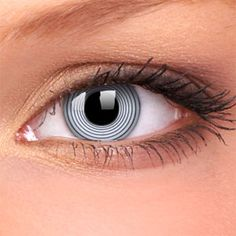 Black Spiral Crazy Contact Lenses (Pair)