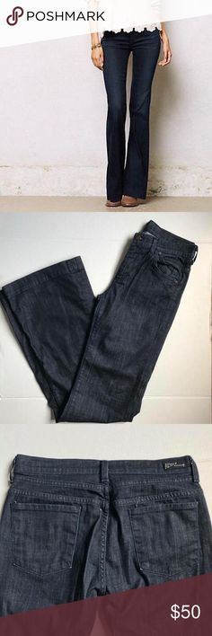 """Citizens of Humanity  Hutton High Rise Jeans 29 Citizens of Humanity Hutton High Rise Jeans sz 29 Waist 15.5"""" across inseam 35"""" rise 9"""" like new VEUC dark wash flare leg Anthropologie Jeans Boot Cut"""