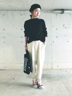 HITOMIさんのニット・セーター「GU 」を使ったコーディネート