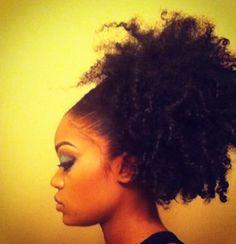 Afro puff. #OfficiallyNatural #NaturalHair #AfroPuff