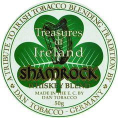 Pipe tobacco DTM Treasures of Ireland Shamrock label