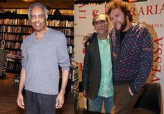 Gilberto Gil e o Cantor Otto prestigiaram lançamento de DVD de Pedro Bial, dedicado a Jorge Mautner.   O Fuxico.