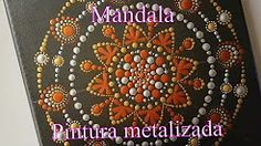 Mandala con pintura metalizada por coloreando.ando.yo