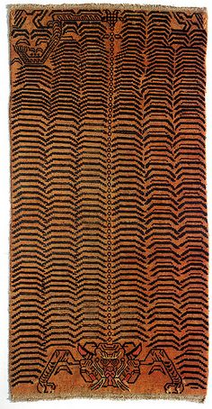 19th-century Tibetan tiger rug #GISSLER #interiordesign