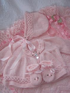 4 pc. pink layette set -- so sweet (thecottoncandystore)