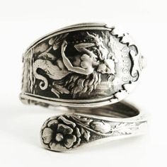Virgo Ring Spoon Ring Sterling Silver Virgo Jewelry Virgo