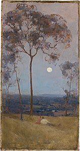 Arthur STREETON, 'Above us the great grave sky'