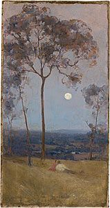 Arthur STREETON, 'Above us the great grave sky'