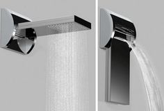 Aquavolo showerhead both rains and pours