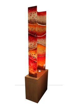 fused-glass-art-light-firecracker3 Glass Wall Art, Fused Glass Art, Mosaic Glass, Linear Art, Glass Art Pictures, Slumped Glass, Wine Glass Holder, Light Art, Art Pieces