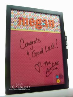 Dry erase whiteboard in a frame!