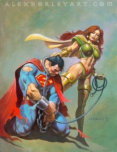 Superman & Maxima by Alex Horley