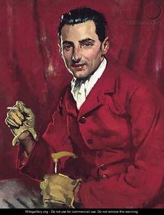 Portrait Of Reginald Addyes-Scott by Sir William Orpen (Irish 1878-1931)