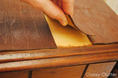 How to remove veneer from wood furniture (the easy way!)