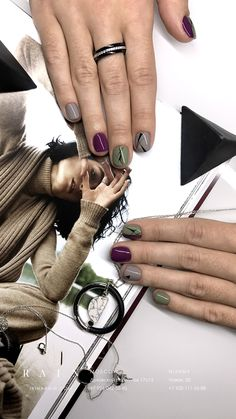 Nails art green grey Ideas for 2019 Green Nail Designs, Classy Nail Designs, Colorful Nail Designs, Cool Nail Designs, Art Designs, Trendy Nail Art, New Nail Art, Stylish Nails, Gray Nails