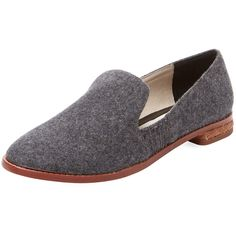 Matt Bernson Women's Ellington Waxed Leather Loafer - Grey - Size 7 (€140) ❤ liked on Polyvore featuring shoes, loafers, grey, leather loafers, grey shoes, leather loafer shoes, matt bernson shoes and leather upper shoes