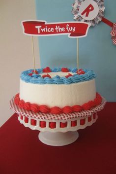 """Photo 1 of 26: Thing 1 & Thing 2 / Dog/Puppy Party """"Dr. Seuss Thing Dog Pawty"""" 