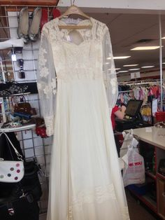 Wedding on pinterest lace sleeves wedding dressses and for Wedding dress thrift shop