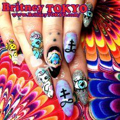 britneytokyo:    My little poney gel Nail ArtbyBritney TOKYO☆  ✌ ✿ ✡ ✟ ☺ ✞ TOKYO meets Hollywood ✞ ☺ ✟ ✡ ✿✌