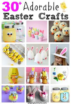 30+ Adorable Easter Crafts for kids. So many easy & cute ideas here!