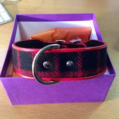 Holly Rodel tweed dog collar #dogcollar #hollyandlil