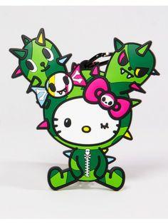 tokidoki x Sanrio Characters Luggage Tag - Hello Kitty Cactus Friend
