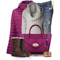 A fashion look from January 2014 featuring FAD sweaters, Armani Jeans coats and UGG Australia boots. Browse and shop related looks. Casual Outfits, Fashion Outfits, Womens Fashion, Fashion Trends, Fashion Sets, Fasion, Fall Winter Outfits, Autumn Winter Fashion, Winter Clothes
