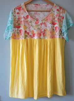 New Women Yellow/Red/White/Green Floral Short Sleeves Top/Tunic Plus size 22-28