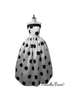 Polka dot gown