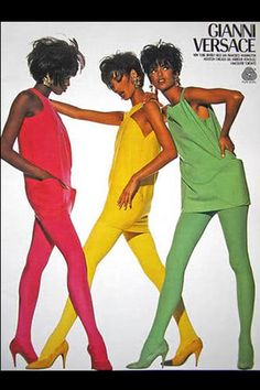 Gianni Versace Spring 1991, featuring Christy Turlington, Naomi Campbell and Linda Evangelista
