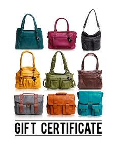 Gift Certificate to Epiphanie bags, another awesome choice! (More affordable than Kelly Moore.) I've got my eye on the new Brooklyn backpack and the Clover. (Both can fit laptops.)