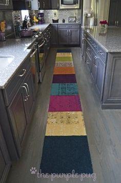 Kitchen Remodel~McCarthy - eclectic - kitchen - new york - kristymc Grey Hardwood Floors, Red Oak Floors, Wood Floor Kitchen, Kitchen Flooring, Jewel Tone Decor, Jewel Tones, Wood Floor Design, Grey Kitchen Designs, Kitchen New York