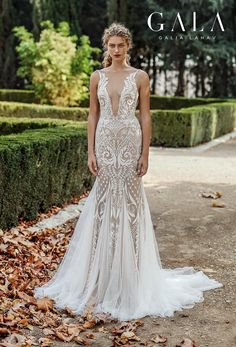 These 13 Looks Prove That Fairytale Wedding Dresses Can Also Be Glamorous — featuring Galia Lahav GALA Collection No. Backless Mermaid Wedding Dresses, Western Wedding Dresses, Bridal Dresses, Wedding Gowns, Bridesmaid Dresses, Backless Wedding, Tent Wedding, Dream Wedding, Mermaid Evening Gown