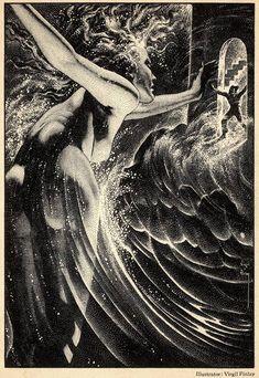 "Virgil Finlay (1914-1971), ""Fantastic"", Vol. 2, #1, 1953"