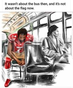"Art that tells our story. - ""It wasn't about the bus then and it's not about the flag now."" - Margi Liddy Art by Prints and merchandise available on my website. Caricatures, Black Art Pictures, By Any Means Necessary, Black Artwork, Thing 1, Afro Art, Black Women Art, Black Man, My Black Is Beautiful"