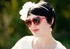 Adorable heart sunglasses