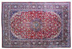 (11DA) A Large Persian Kashan Carpet n\A Large Persian Kashan Carpet Decorative Arts > / MAD on Collections - Browse and find over 10,000 categories of collectables from around the world - antiques, stamps, coins, memorabilia, art, bottles, jewellery, furniture, medals, toys and more at madoncollections.com. Free to view - Free to Register - Visit today. #Rugs #Carpets #Textiles #MADonCollections #MADonC