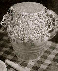 INSTANT DOWNLOADVintage crochet pattern for by VintageVisageonEtsy Vintage Knitting, Vintage Crochet, Vintage Sewing Patterns, Tapas, Crochet Kitchen, Crochet Girls, Yarn Bowl, Crochet Stitches Patterns, Monogram