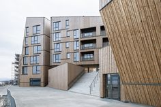 The Waterfront, Stavanger, Norway. By Danish architects: AART architects. Praised as the largest wooden development in Northern Europe. Shortlisted for WAN Residential Award 2011. Spotted by @missdesignsays. Content Curator #allgoodthingsdanish #architecture #norway
